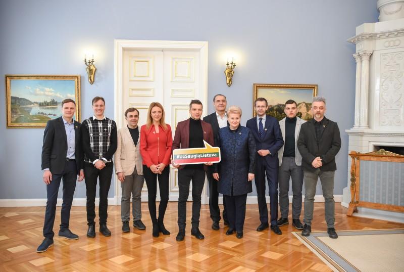 """Kampanija """"Už saugią Lietuvą"""" – drąsina žmones"""