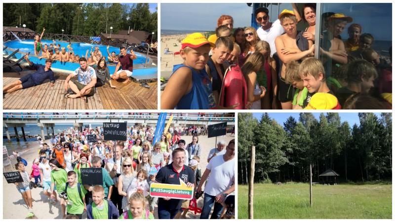 """Kampanijos """"Už saugią Lietuvą"""" partnerių rūpestis – vaikų vasaros atostogos"""