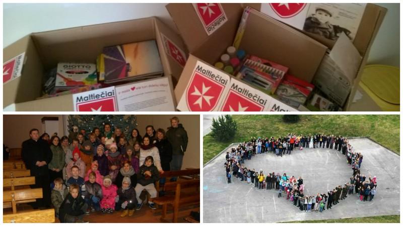 """""""Už saugią Lietuvą"""" ir maltiečiai kviečia dovanoti mokyklinius reikmenis vaikams"""