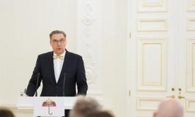 """Algirdo Kaušpėdo kalba kampanijos """"Už saugią Lietuvą"""" atidaryme"""