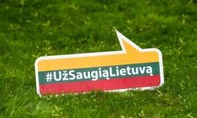 """Kampanijai """"Už saugią Lietuvą"""" – vieneri"""