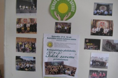 Neįgalių rajono jaunuolių užimtumas Radviliškio ŠSPC Dienos užimtumo skyriuje