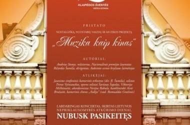 NUBUSK PASIKEITĘS. Labdaringas Kovo 11-osios koncertas Laukiančio bilieto iniciatyvai plėtoti